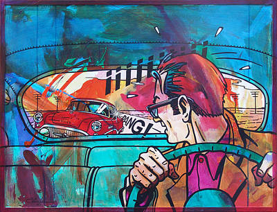 The Car Chase Art Print by Frans Mandigers