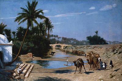 Caravan Painting - The Caravan by Jean Leon Gerome