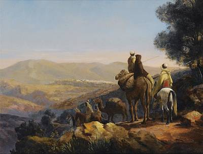 Synagogue Painting - The Caravan Near Constantine by Celestial Images