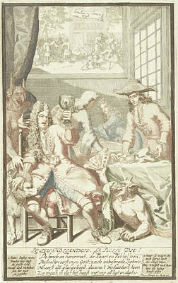 Occur Painting - The Card Game, Pieter Van Den Berge by Pieter Van Den Berge