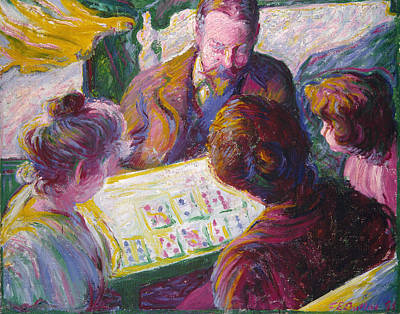 Card Players Painting - The Card Players by Theodore Earl Butler