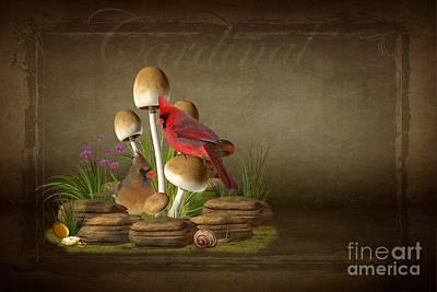 The Cardinal Art Print by Davandra Cribbie
