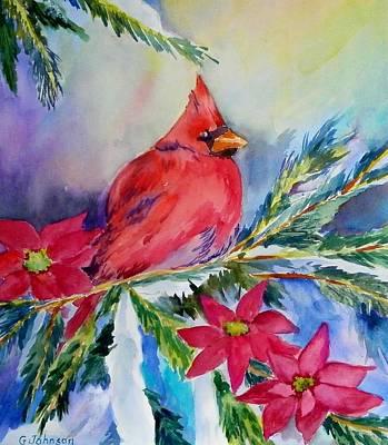 The Cardinal Art Print by Gloria Johnson