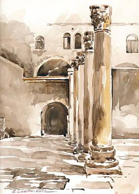 Painting - The Cardo In Jerusalem by Anna Lobovikov-Katz