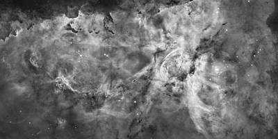 High Quality Images Photograph - The Carina Nebula - Black And White by Nasa