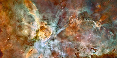 The Carina Nebula Art Print by Nasa