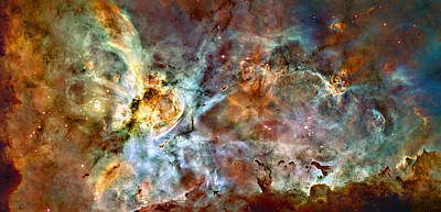Hubble Telescope Photograph - The Carina Nebula by Ricky Barnard
