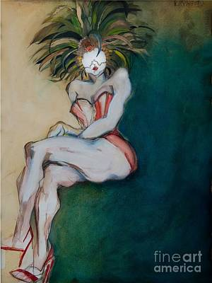 Painting - The Carnival Queen - Masked Woman by Carolyn Weltman