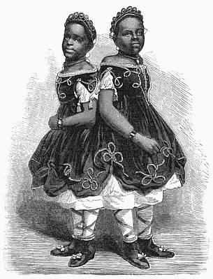 The Carolina Twins, 1866 Art Print by Granger