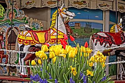 The Carousel Art Print by Cheryl Cencich