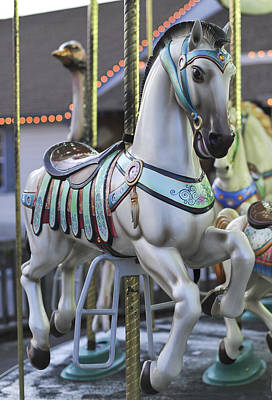 Photograph - The Carousel Horse Smithville Nj by Terry DeLuco
