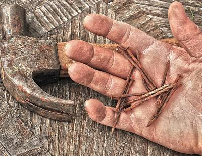 Hand Hammered Photograph - The Carpenter  by Jerry Cordeiro