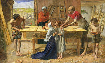 Advent Painting - The Carpenter's Shop by Celestial Images