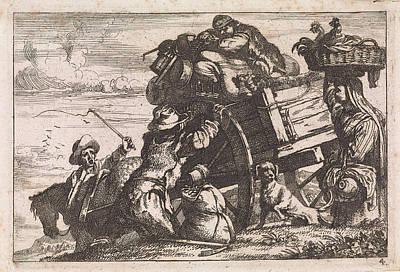 The Cart, Jan Baptist De Wael Art Print by Jan Baptist De Wael