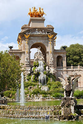 The Cascada In Parc De La Ciutadella In Barcelona Art Print