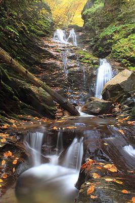 Photograph - The Cascade Berkshires Waterfall by John Burk
