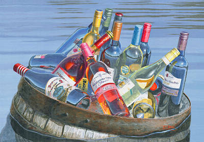 Wine Glass Painting - The Castaways by Will Enns