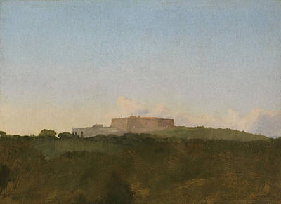 Italian Landscapes Drawing - The Castel Santelmo, Naples by Edgar Degas