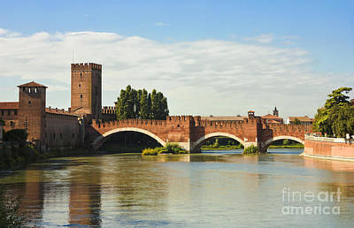 The Castelvecchio Bridge In Verona Print by Kiril Stanchev