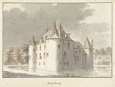 The Castle Amelroy Or Ammerzoden, Gelderland The Netherlands Art Print by Quint Lox