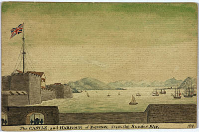 Bombay Photograph - The Castle And Harbour Of Bombay by British Library