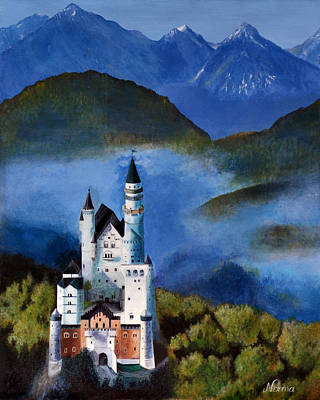 Castle Painting - The Castle by Norma Garcia