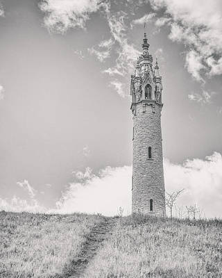 Sepia Photograph - The Castle Tower by Scott Norris