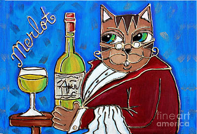 Painting - The Cat Butler by Cynthia Snyder
