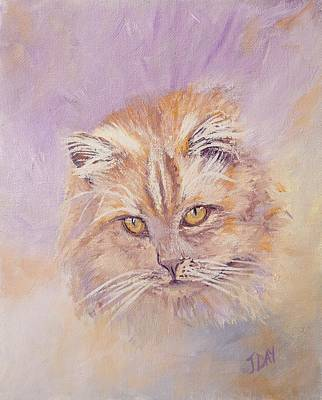 Moggy Painting - The Cat by Jaana Day