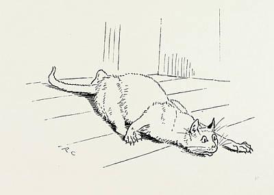 The Cat That Ate The Rat Art Print