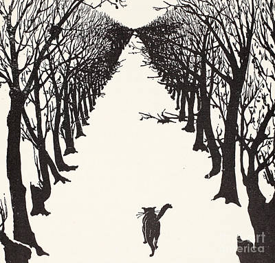 Ink Painting - The Cat That Walked By Himself by Rudyard Kipling