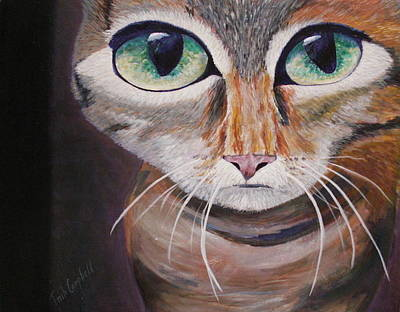 Painting - The Cat by Trish Campbell