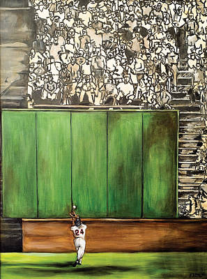 Baseball Players Painting - The Catch by Katia Von Kral