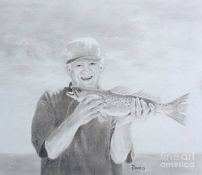 Drawing - The Catch by Mary Lynne Powers