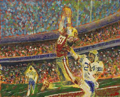 Joe Montana Painting - The Catch by Preston Sandlin