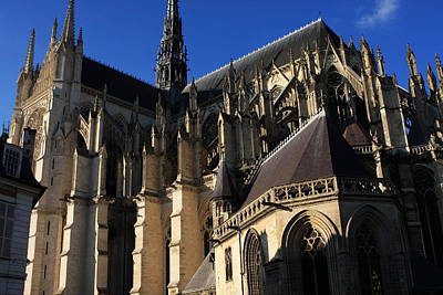 Somme Photograph - The Cathedral Basilica -  Amiens - France by Aidan Moran
