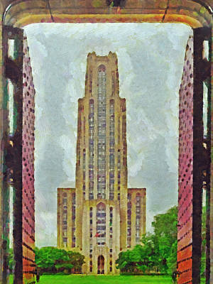 Digital Art - The Cathedral Of Learning 2 by Digital Photographic Arts