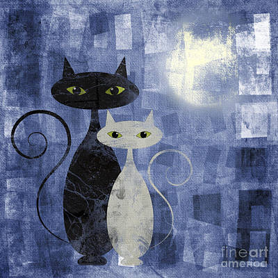 The Cats Art Print by Jelena Jovanovic