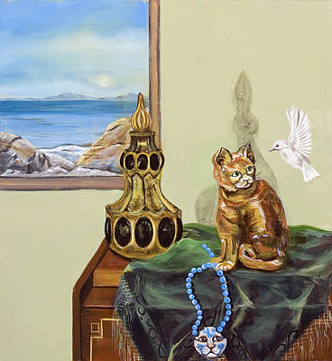Art Print featuring the painting The Cat's Meow by Susan Culver