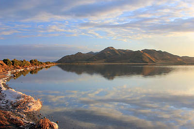 Photograph - The Causeway To Stansbury Island by Johnny Adolphson