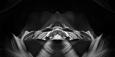 Black And White Abstract Photograph - The Cave by Adam Romanowicz