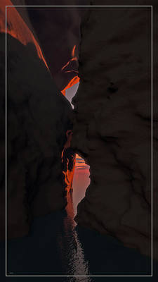 Digital Art - The Cave Entrance... by Tim Fillingim