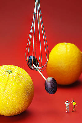 Photograph - The Cavendish Experiment Depicted By Fruits Food Physics by Paul Ge