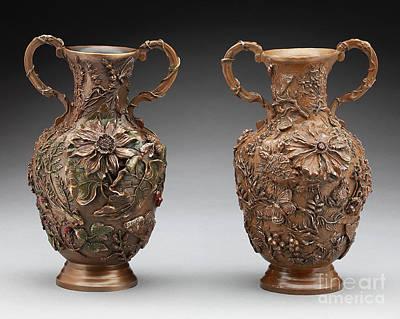 Sculpture - The Cedar Ridge Bronze Vase by Dawn Senior-Trask