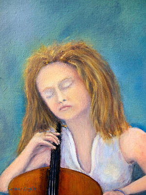 Painting - The Cellist by Loretta Luglio