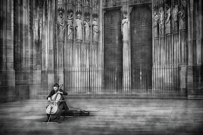 Cello Wall Art - Photograph - The Cellist by Roswitha Schleicher-schwarz