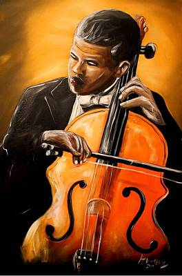Painting - The Cello Player by Henry Blackmon