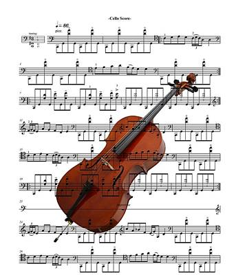 The Cello Art Print by Ron Davidson