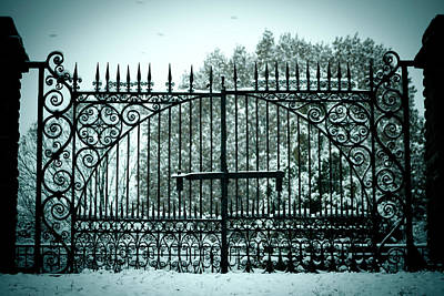 Photograph - The Cemetery Gates by Kristy Creighton