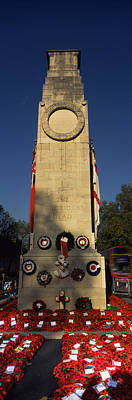 Whitehall Photograph - The Cenotaph And Wreaths, Whitehall by Panoramic Images